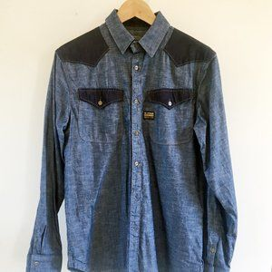 G Star Raw Western Denim Shirt